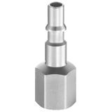 Embout de coupleur pneumatique raccordement femelle BSPP profil ISO C série CRP