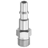 Embout de coupleur pneumatique racordement mâle BSPP profil ISO C série CRP
