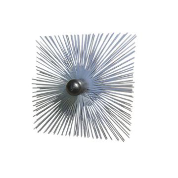 Hérisson acier carré 300mm avec boule de guidage Progalva