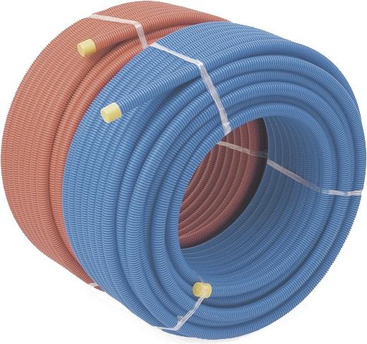 Tube PER gainé - Bleu et Rouge Rehau