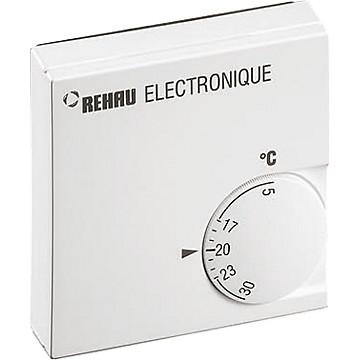 Thermostat d'ambiance électronique 230 v filaire Rehau