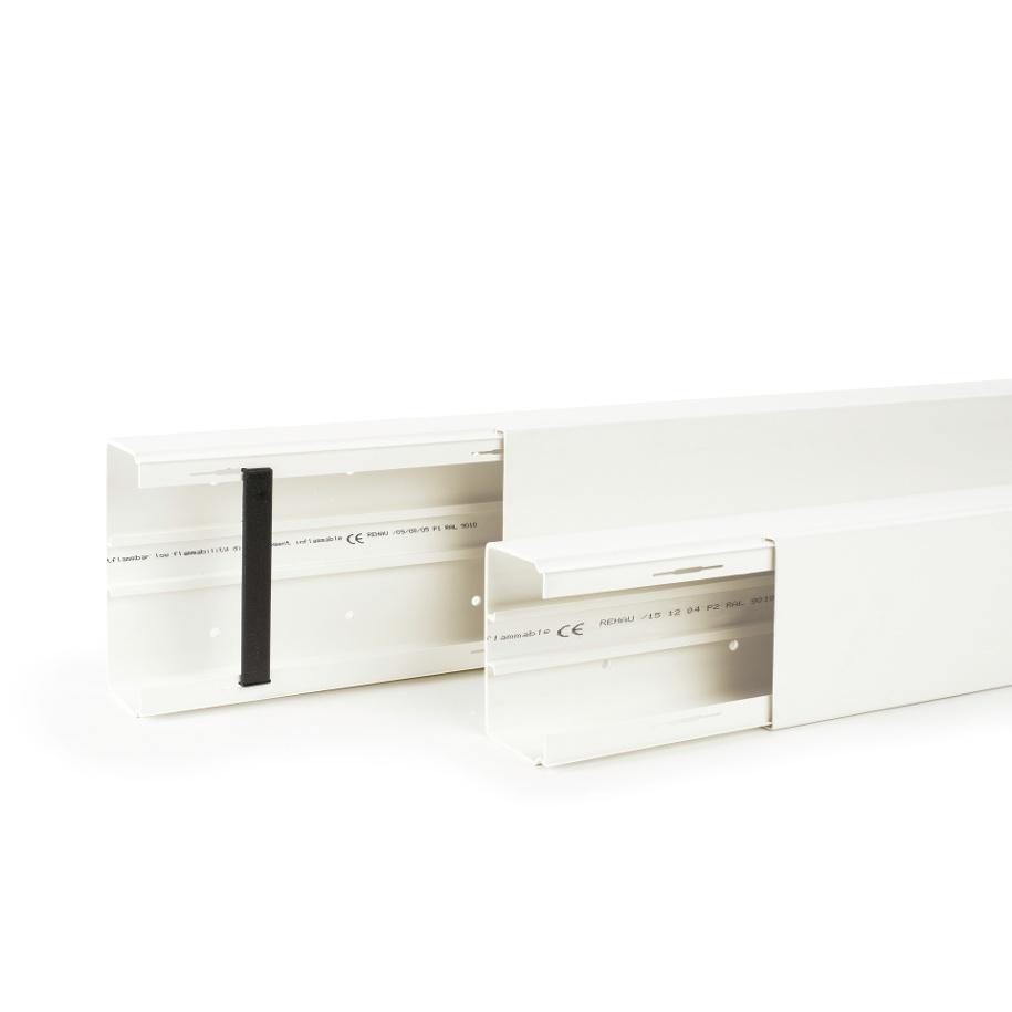 Goulotte et accessoires FBK à cloison amovible Rehau