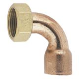 Raccord 2 pièces douille cuivre coudé  - Fig. 2GC