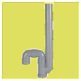 Siphon simple MAL sortie verticale