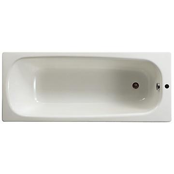 Baignoire rectangulaire acier émaillé monotrou Contesa Roca