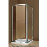 Paroi de douche Luxo fixe - Profil argent poli