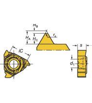 Plaquettes de filetage métrique 60°, profil complet