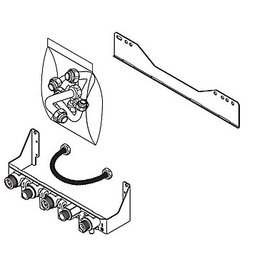 Plaque de raccordement gamme Iso condens Saunier Duval