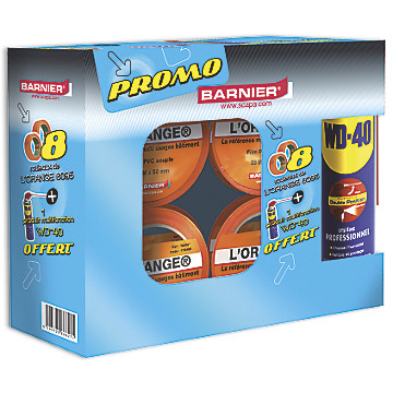 Lot de 8 adhésifs vinyle orange 6095 + 1 aérosol WD40 Barnier