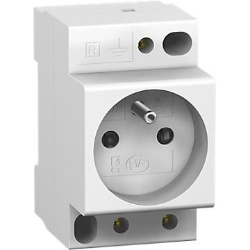 Prise modulaire 2P+T PC'clic 16A 250V Schneider Electric
