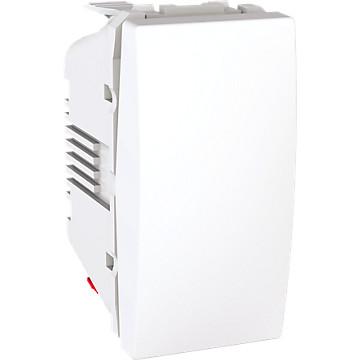 Unica - Mécanisme - Commande d'éclairage blanc Schneider Electric