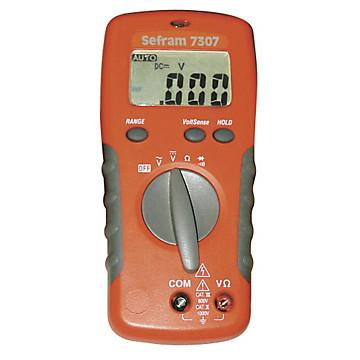 Multimètre numérique tension Ohm Sefram