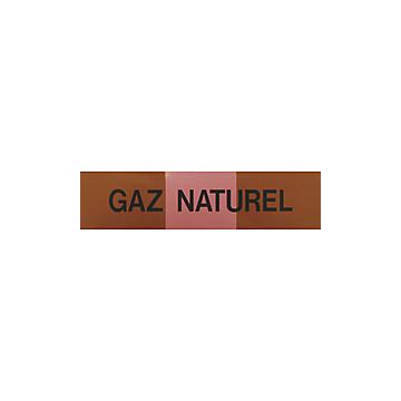 Etiquettes gaz naturel rouge 100x30 (sachet de 5 pièces)