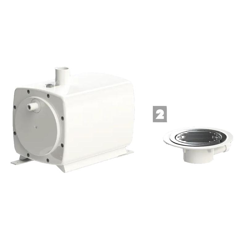Pompe de relevage Sanifloor®+ 2 pour sols souples SFA