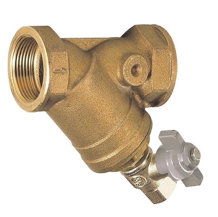Filtre à tamis bronze avec robinet de rinçage