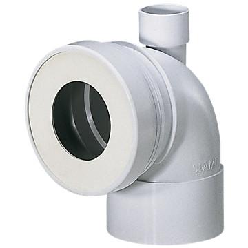 Pipe WC courte femelle avec piquage Siamp