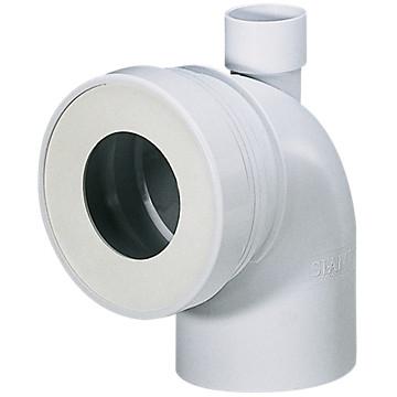 Pipe WC courte mâle avec piquage Siamp