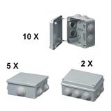 Lot de boîtes étanches SIBOX