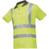 Polo de travail haute visibilité jaune fluo Genga