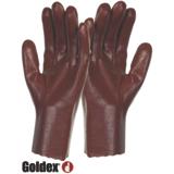 Gants protection chimique rugueux PVC rouge PVC536
