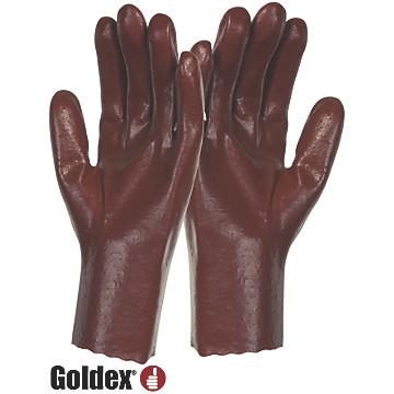 Gants protection chimique rugueux PVC rouge PVC536 Singer