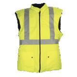 Gilet Flexothane matelassé haute visibilité jaune Arras