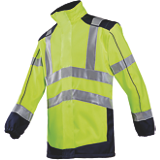 Veste haute visibilité jaune fluo/marine softshell Drayton