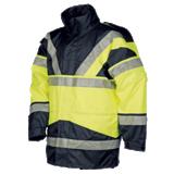 Parka haute visibilité jaune fluo/marine Skollfield