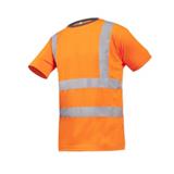 Tee-shirt haute visibilité orange Ameno