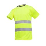 Tee-shirt de travail jaune fluo Cartura