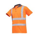 Polo de travail haute visibilité orange fluo Genga