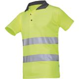Polo de travail haute visibilité jaune fluo Irola