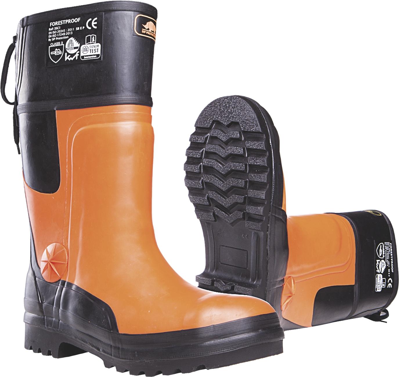 Bottes Forestproof 3SB3 - Orange/Noir SIP Protection