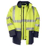 Parka de travail haute-visibilité jaune fluo/ bleue marine Marianis