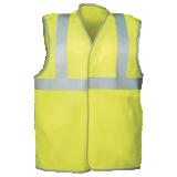 Gilet de sécurité haute visibilité jaune fluo Ottone