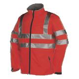 Veste de travail haute visibilité Genova rouge fluo