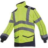 Blouson haute visibilité jaune fluo/marine Alford