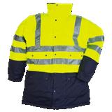 Parka haute visibilité jaune fluo/marine Stormflash