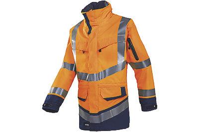 Parka haute visibilité orange fluo/marine Windsor