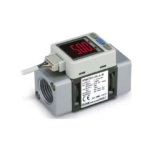 PFMB7501/102/202, Débitmètre numérique à écran bicolore, Écran intégré SMC