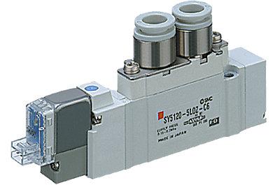 Distributeur montage en ligne série SY7120 5/2 monostable