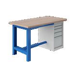 Etabli plateau multiplis avec coffre à tiroirs