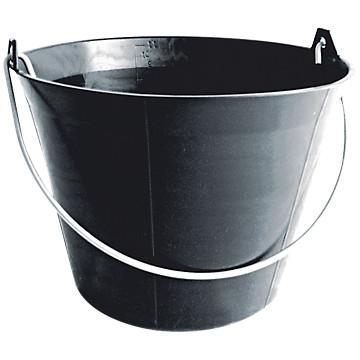 Seau plastique noir Sofop
