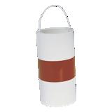 Fardier sans feu cylindrique blanc avec bande rouge