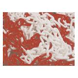 Chaîne plastique rouge/blanc n°8