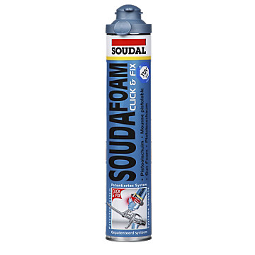 Mousse polyuréthane SOUDAFOAM Click & Fix Soudal