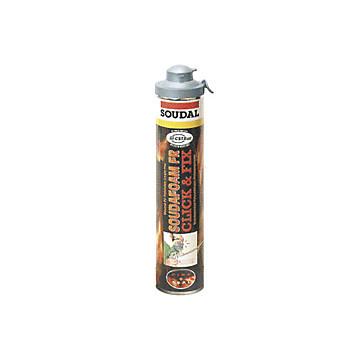 Mousse polyuréthane coupe-feu pistolable Click & Fix Soudal