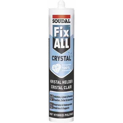 Mastic colle Fix All crystal Soudal
