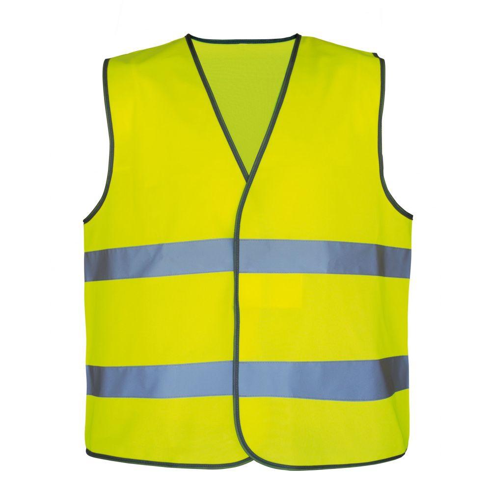 Gilet NEON jaune marquage dos T2S