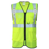 Gilet de travail Safari LED jaune